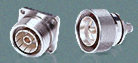 Picture of Female and Male Type 7/16 Connectors